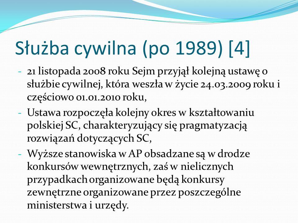 Służba cywilna (po 1989) [4]